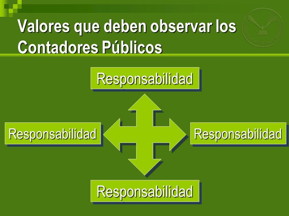 Valores que deben observar los Contadores Públicos