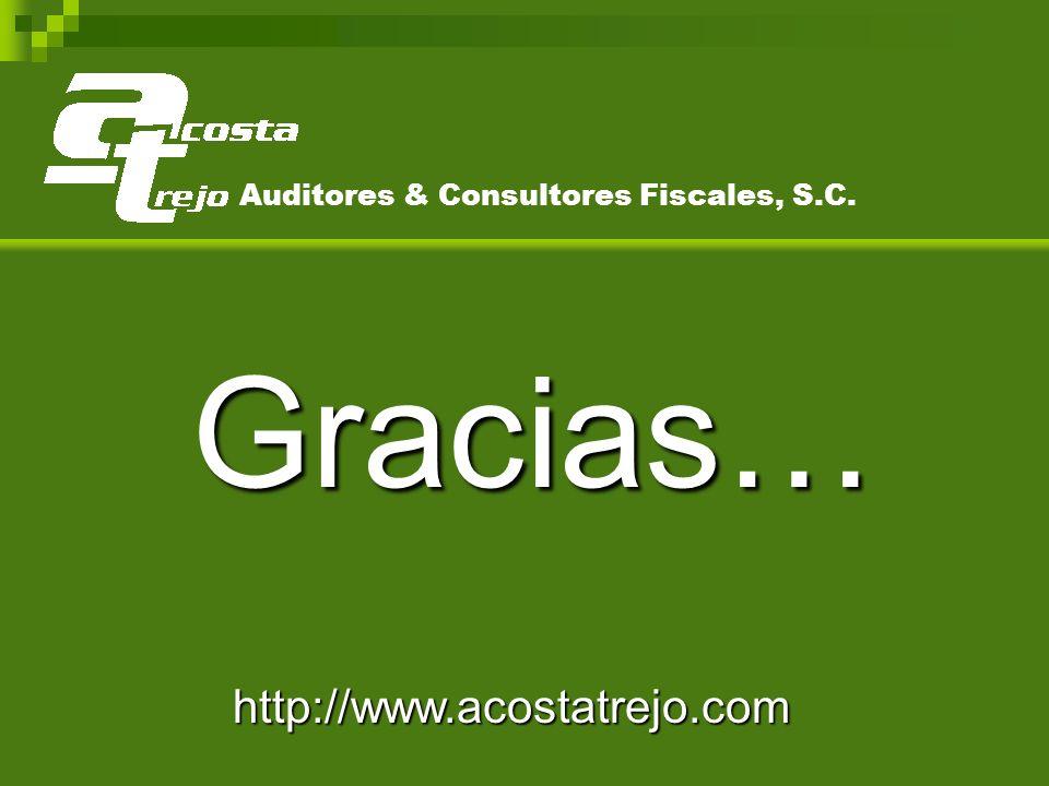 Gracias… http://www.acostatrejo.com