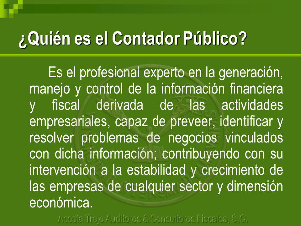 ¿Quién es el Contador Público