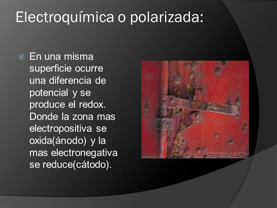 Electroquímica o polarizada: