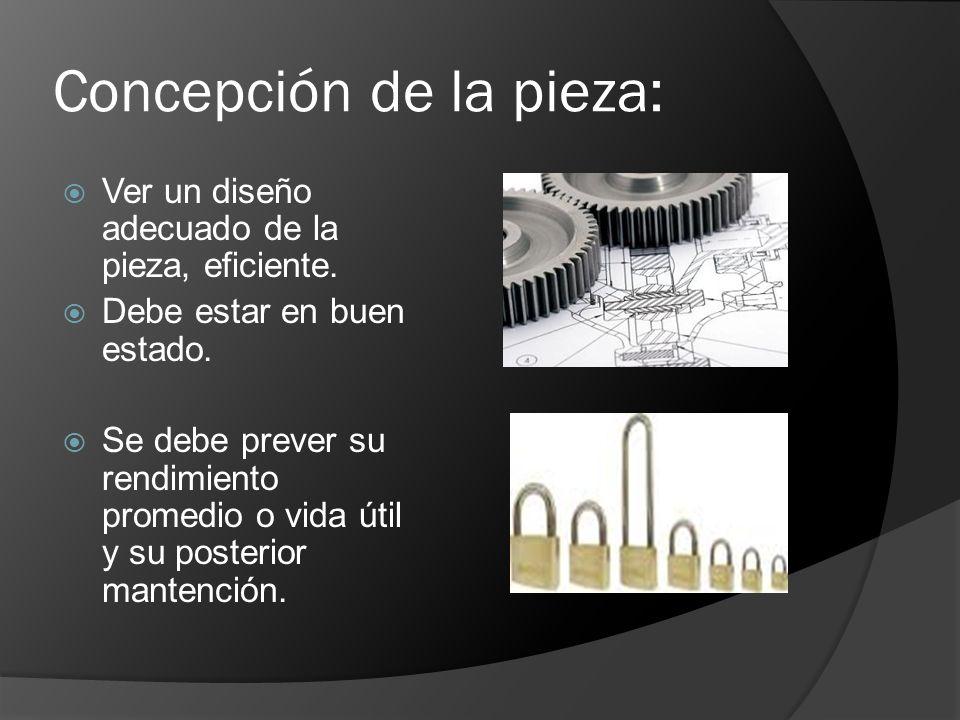 Concepción de la pieza: