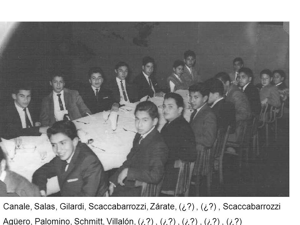 Canale, Salas, Gilardi, Scaccabarrozzi, Zárate, (¿. ) , (¿