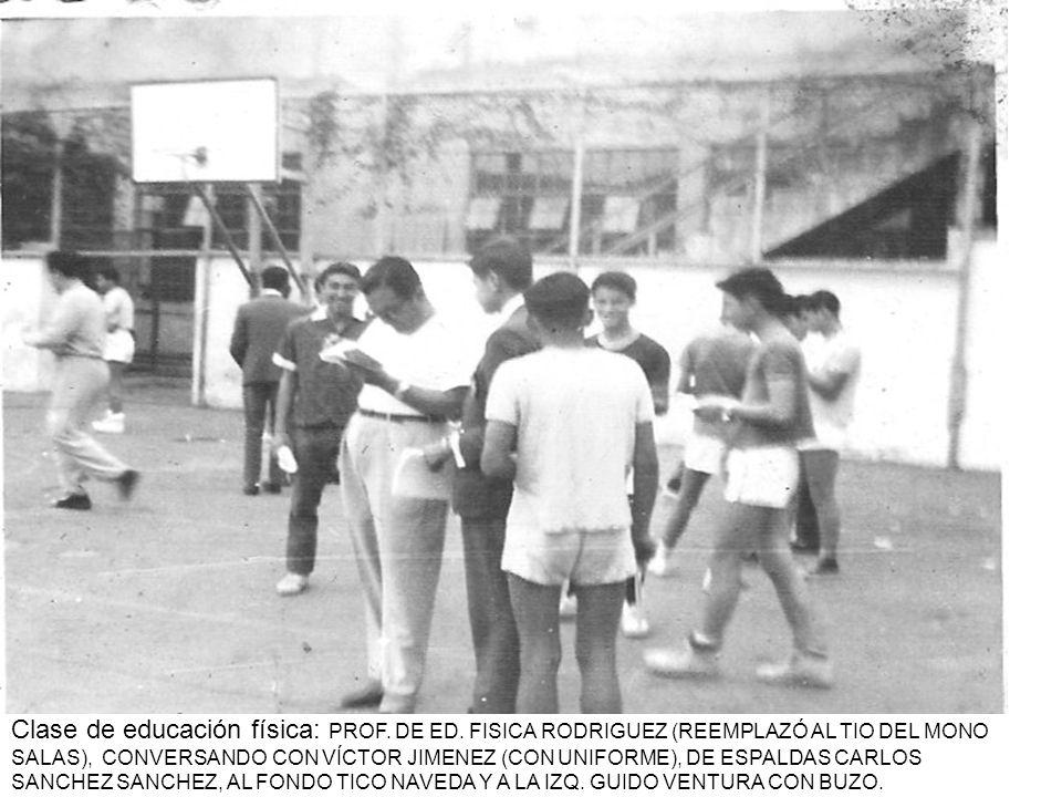 Clase de educación física: PROF. DE ED