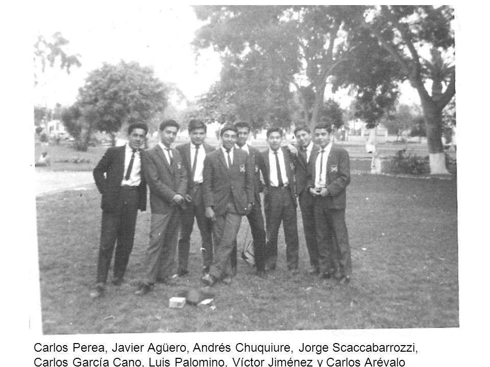 Carlos Perea, Javier Agüero, Andrés Chuquiure, Jorge Scaccabarrozzi, Carlos García Cano, Luis Palomino, Víctor Jiménez y Carlos Arévalo