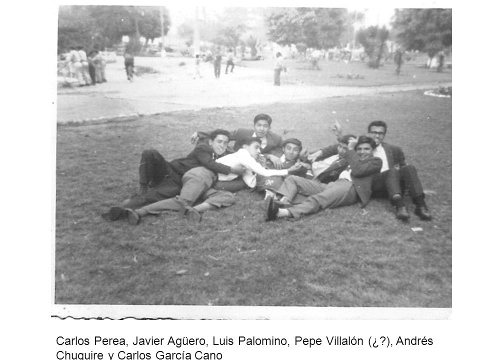 Carlos Perea, Javier Agüero, Luis Palomino, Pepe Villalón (¿