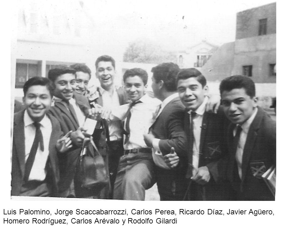 Luis Palomino, Jorge Scaccabarrozzi, Carlos Perea, Ricardo Díaz, Javier Agüero, Homero Rodríguez, Carlos Arévalo y Rodolfo Gilardi