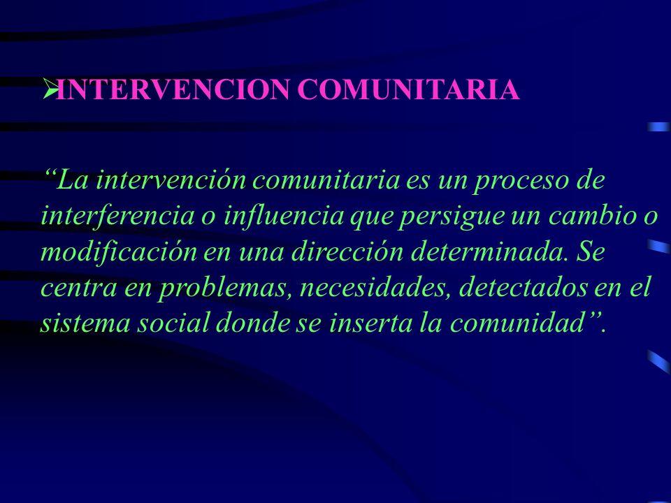 INTERVENCION COMUNITARIA