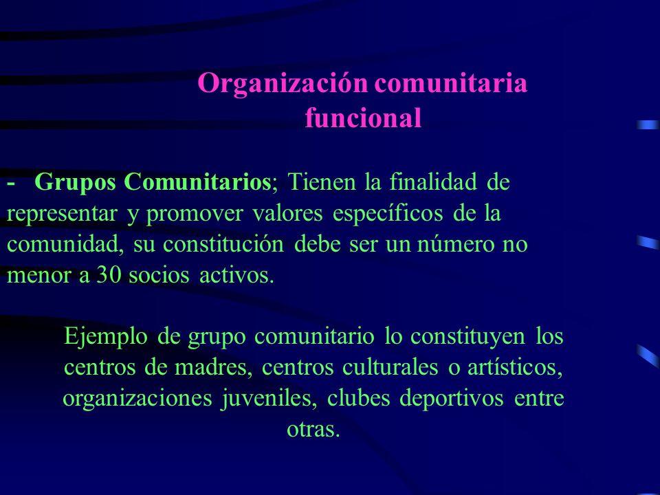 Organización comunitaria funcional