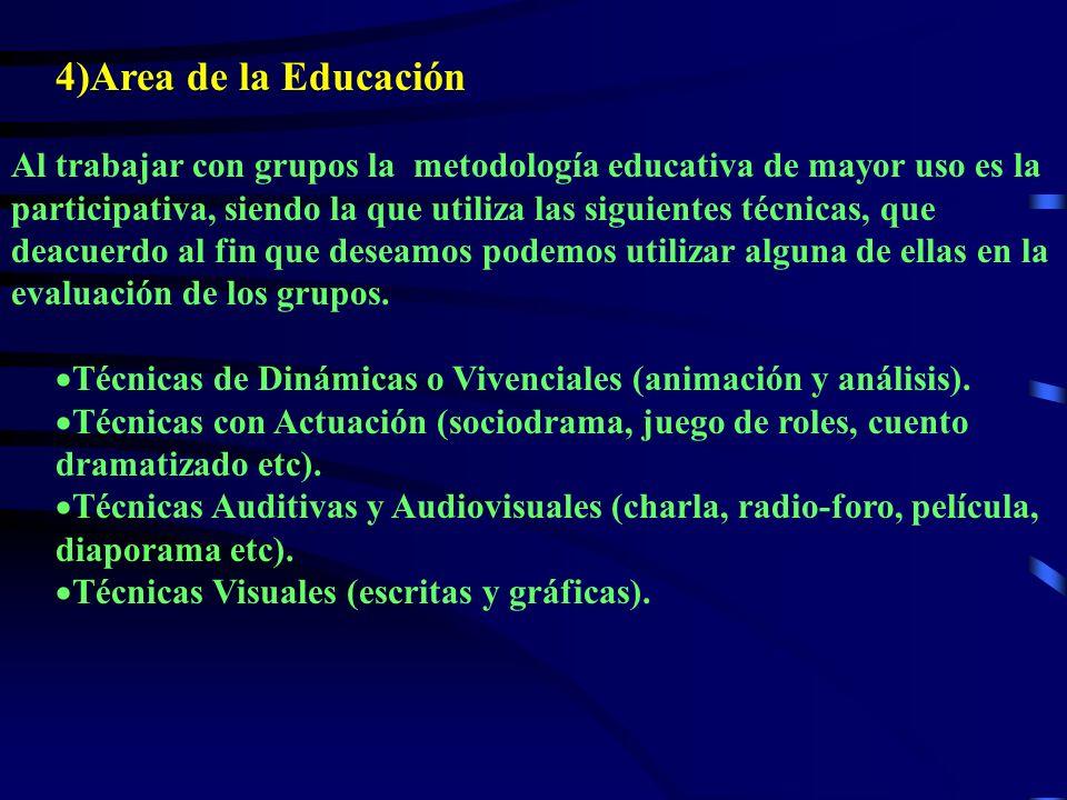 4)Area de la Educación