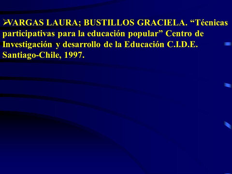 VARGAS LAURA; BUSTILLOS GRACIELA