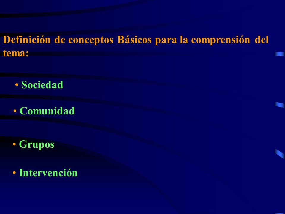 Definición de conceptos Básicos para la comprensión del tema: