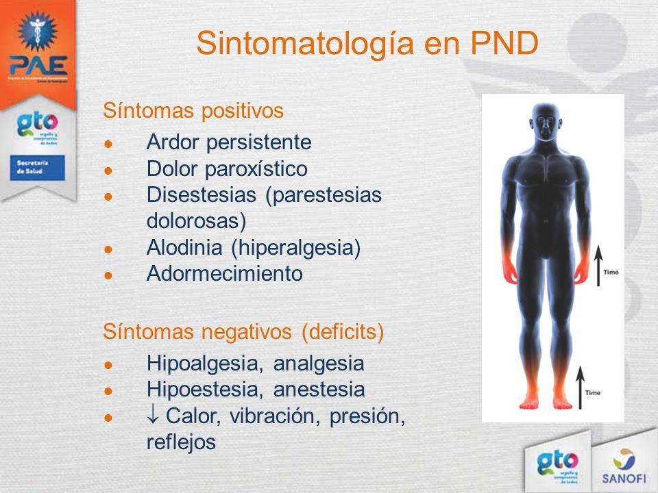Sintomatología en PND Síntomas positivos Ardor persistente