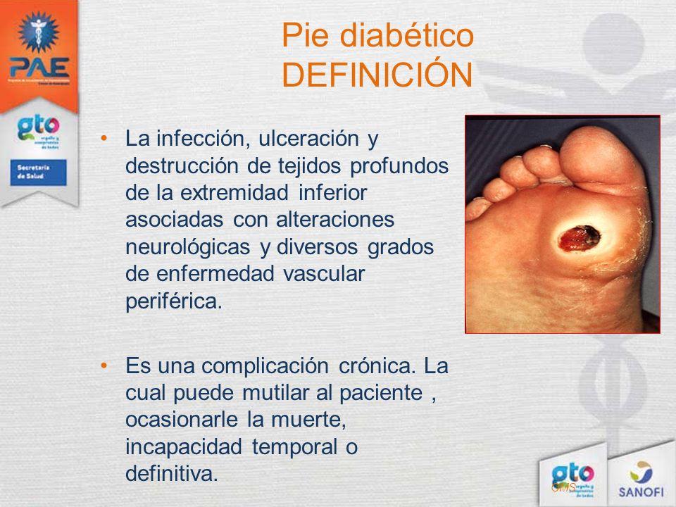 Pie diabético DEFINICIÓN