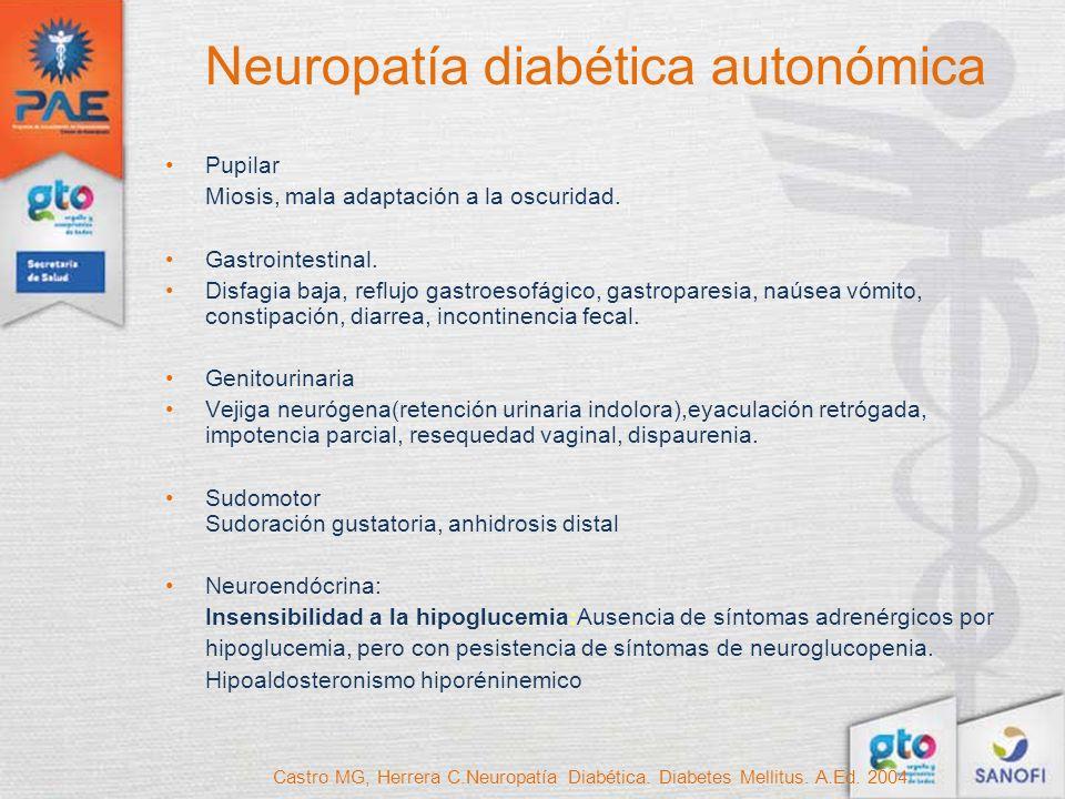 Neuropatía diabética autonómica