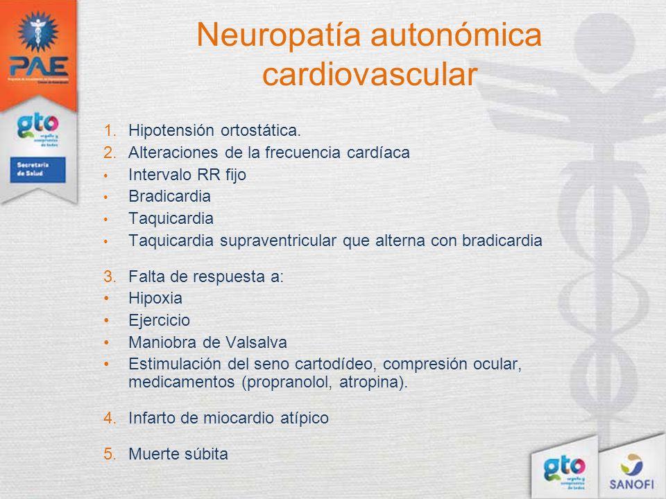 Neuropatía autonómica cardiovascular
