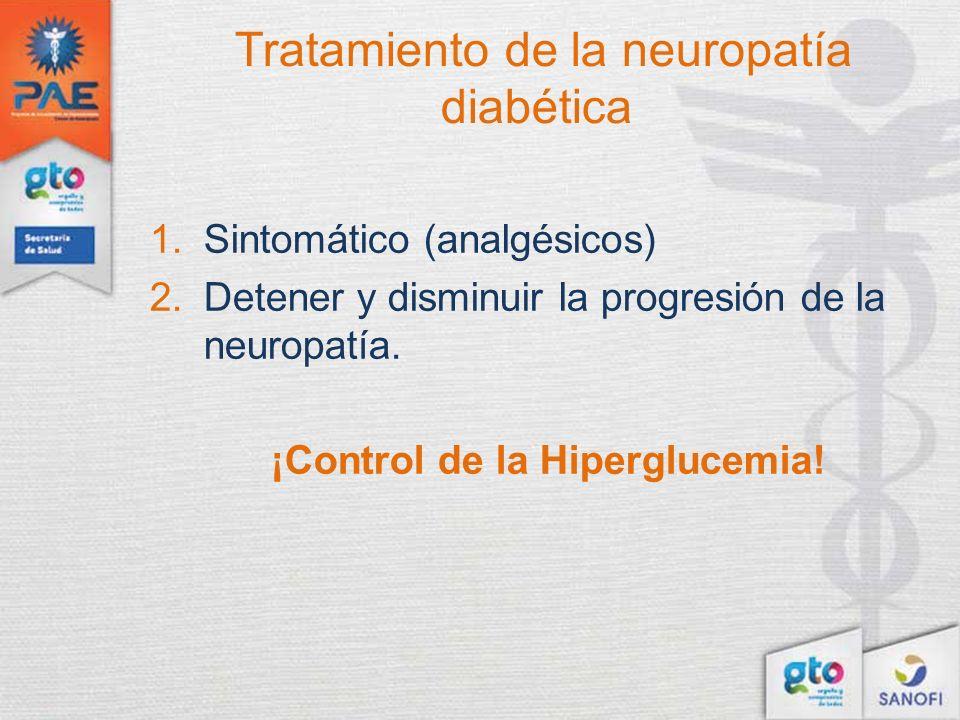 Tratamiento de la neuropatía diabética