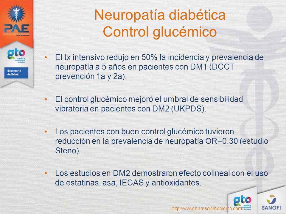 Neuropatía diabética Control glucémico