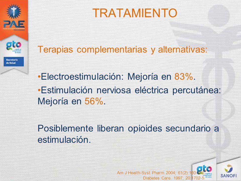 TRATAMIENTO Terapias complementarias y alternativas: