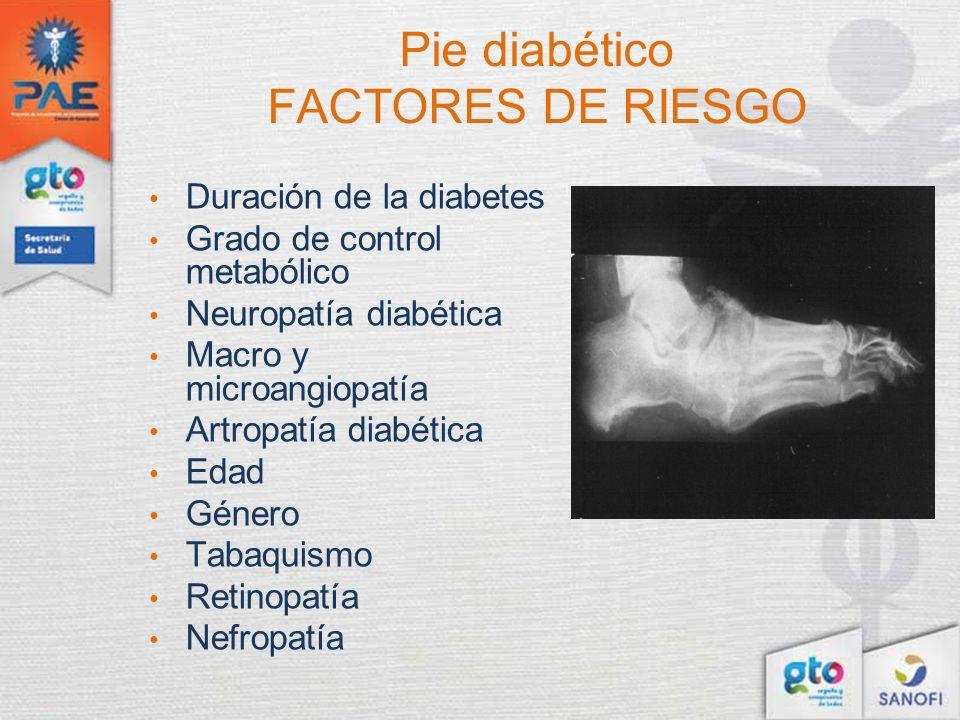 Pie diabético FACTORES DE RIESGO
