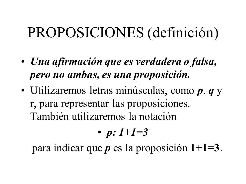 PROPOSICIONES (definición)