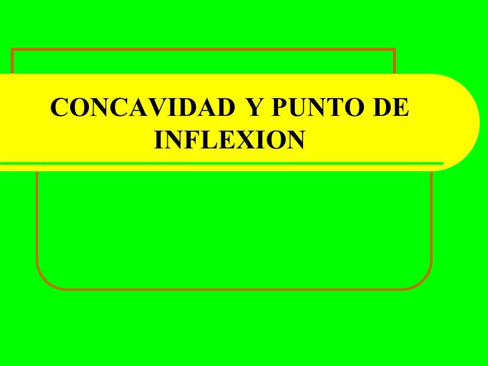 CONCAVIDAD Y PUNTO DE INFLEXION