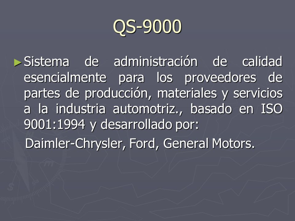 QS-9000
