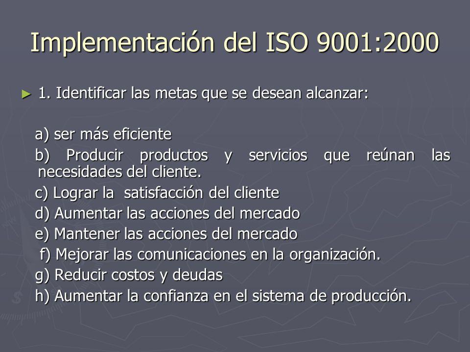 Implementación del ISO 9001:2000