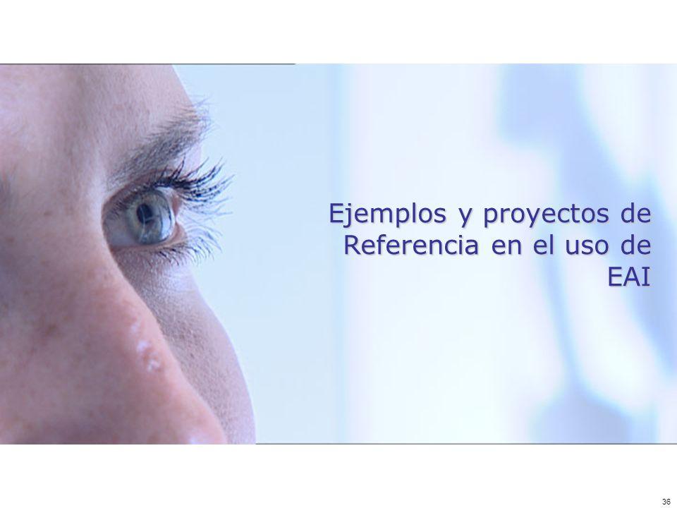 Ejemplos y proyectos de Referencia en el uso de EAI
