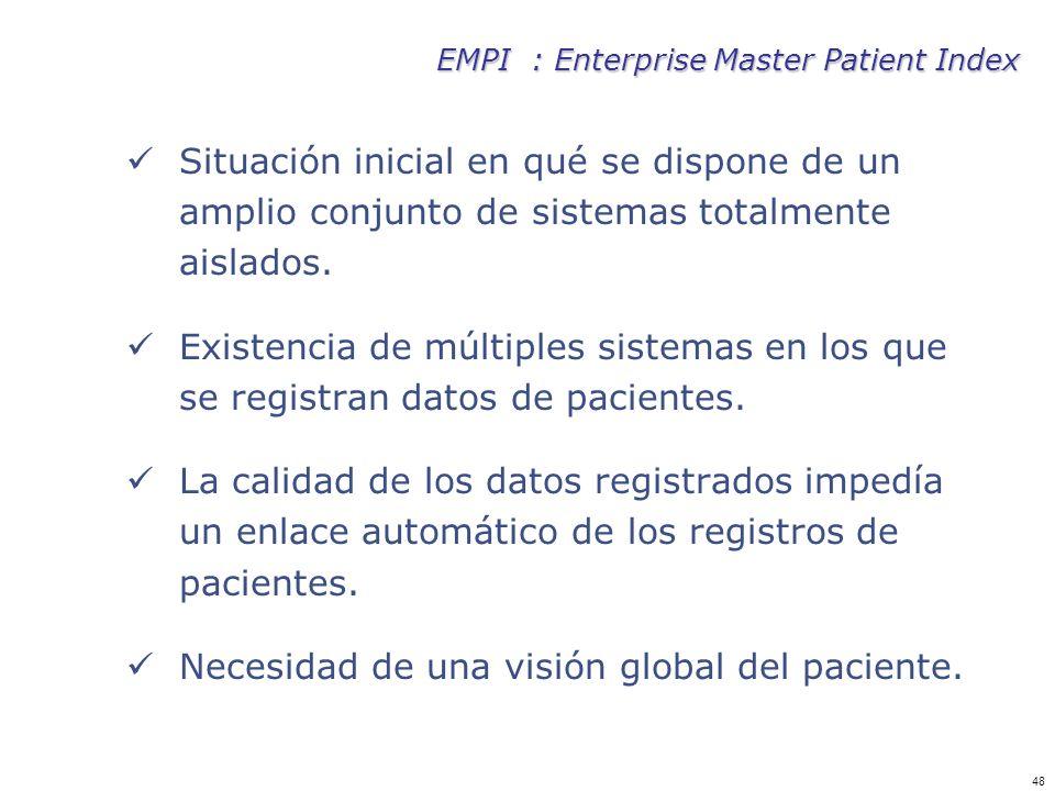 Necesidad de una visión global del paciente.