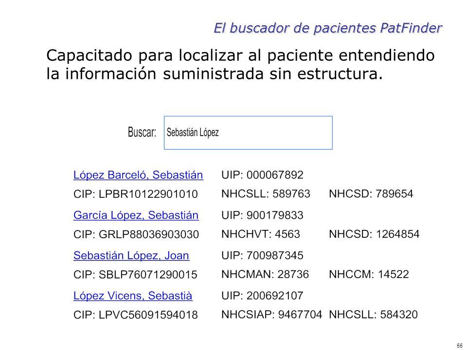 El buscador de pacientes PatFinder