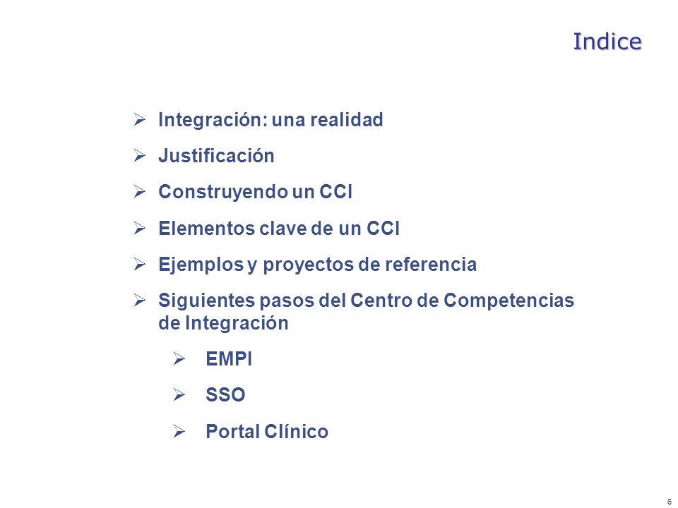 Indice Integración: una realidad Justificación Construyendo un CCI