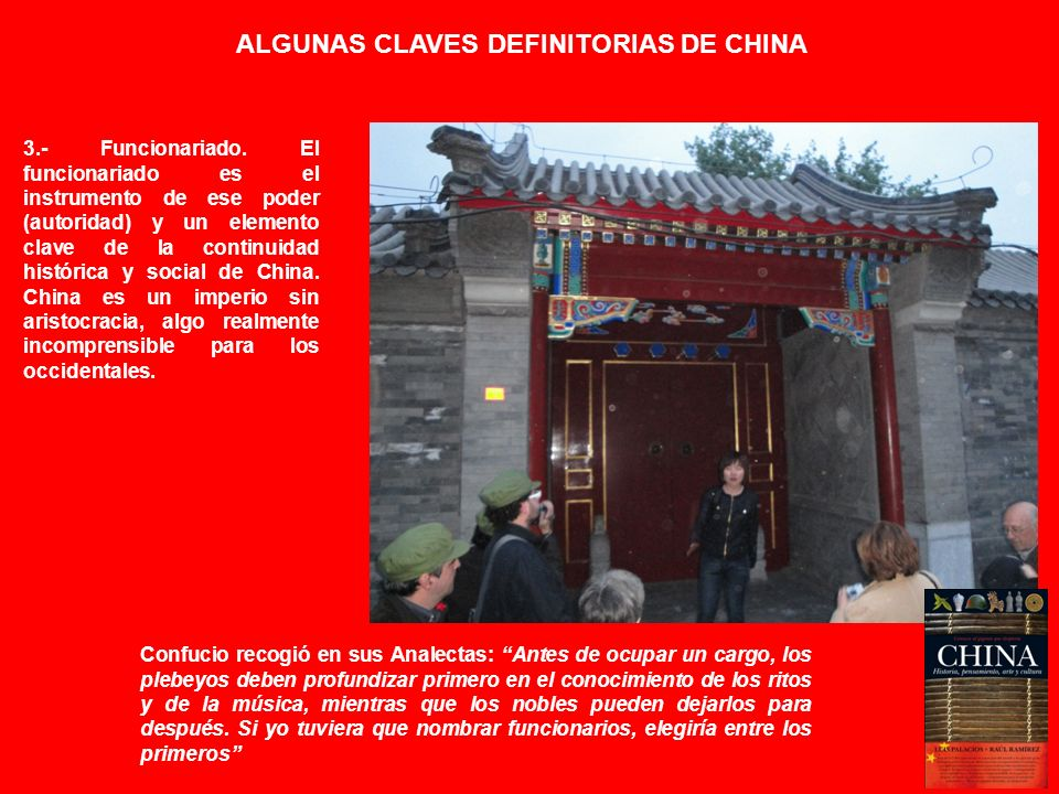 ALGUNAS CLAVES DEFINITORIAS DE CHINA
