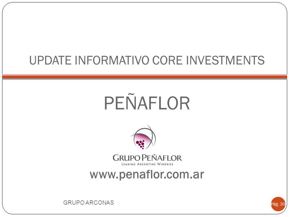 UPDATE INFORMATIVO CORE INVESTMENTS PEÑAFLOR www.penaflor.com.ar