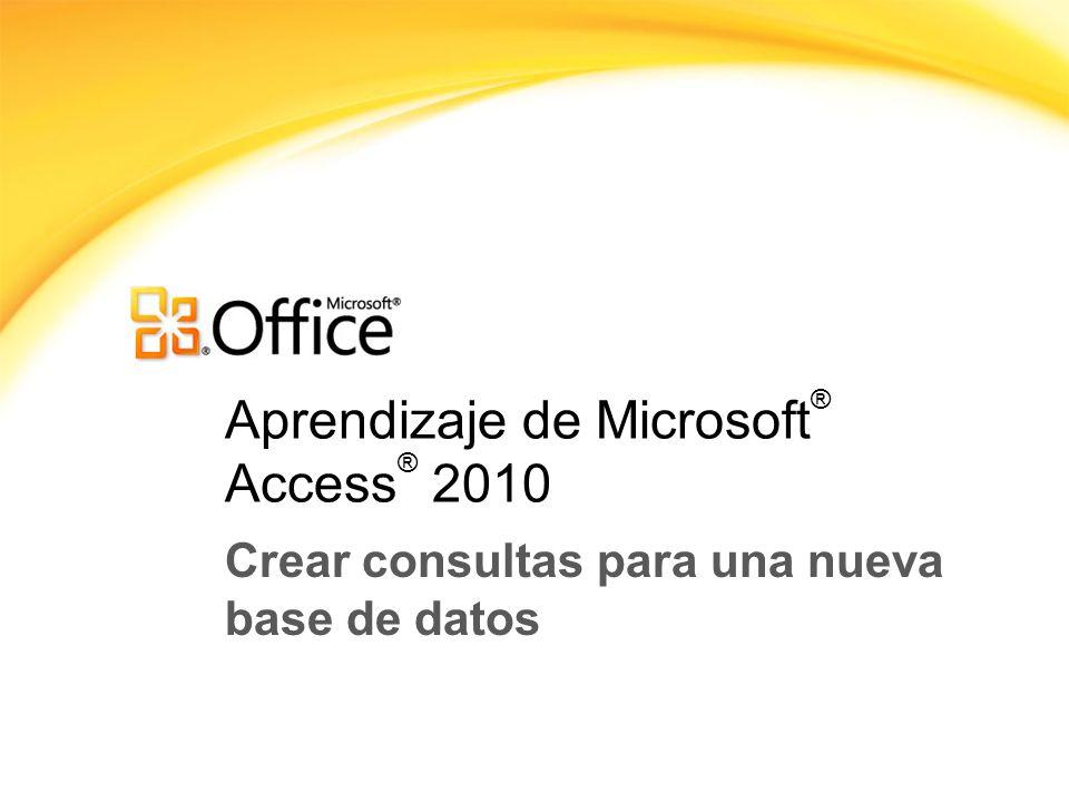 Aprendizaje de Microsoft® Access® 2010