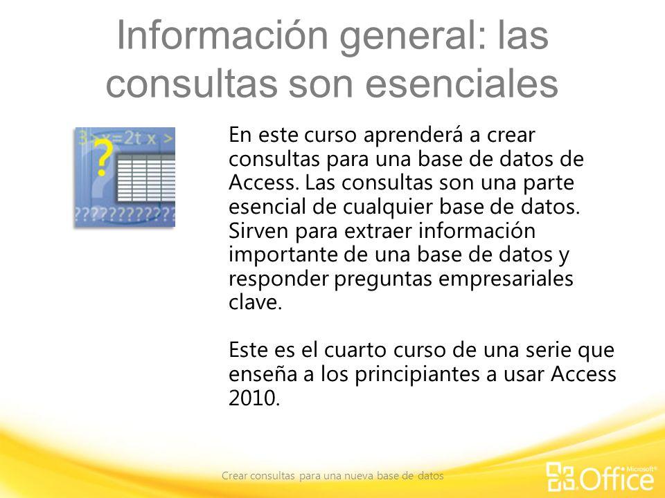 Información general: las consultas son esenciales