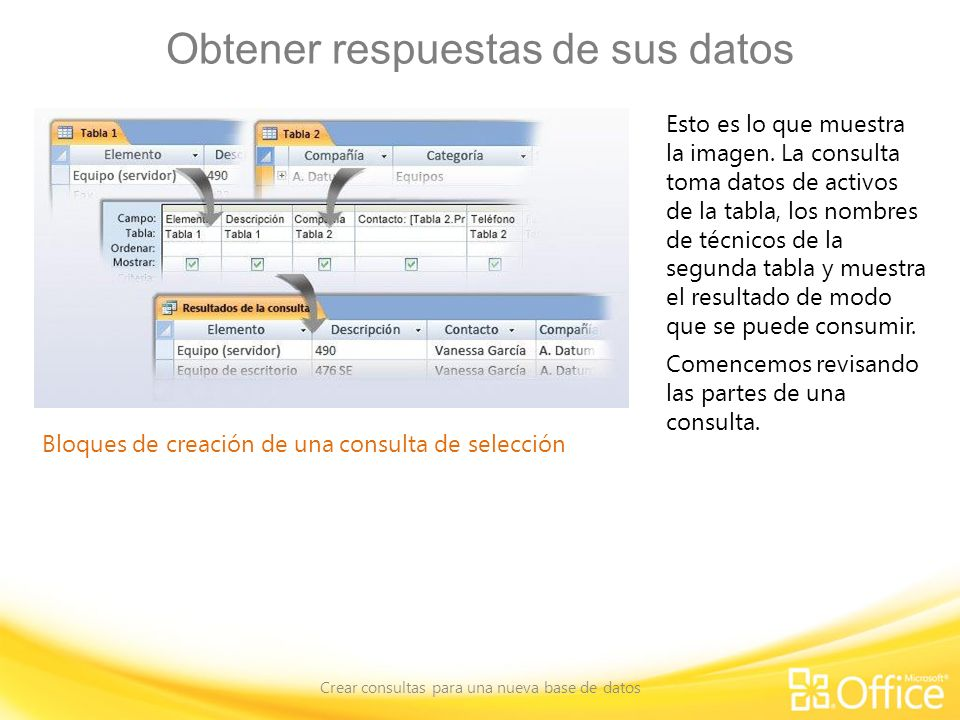 Obtener respuestas de sus datos