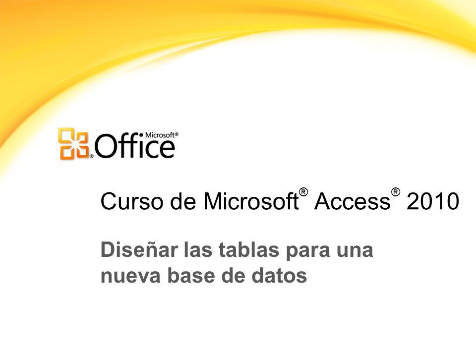 Curso de Microsoft® Access® 2010