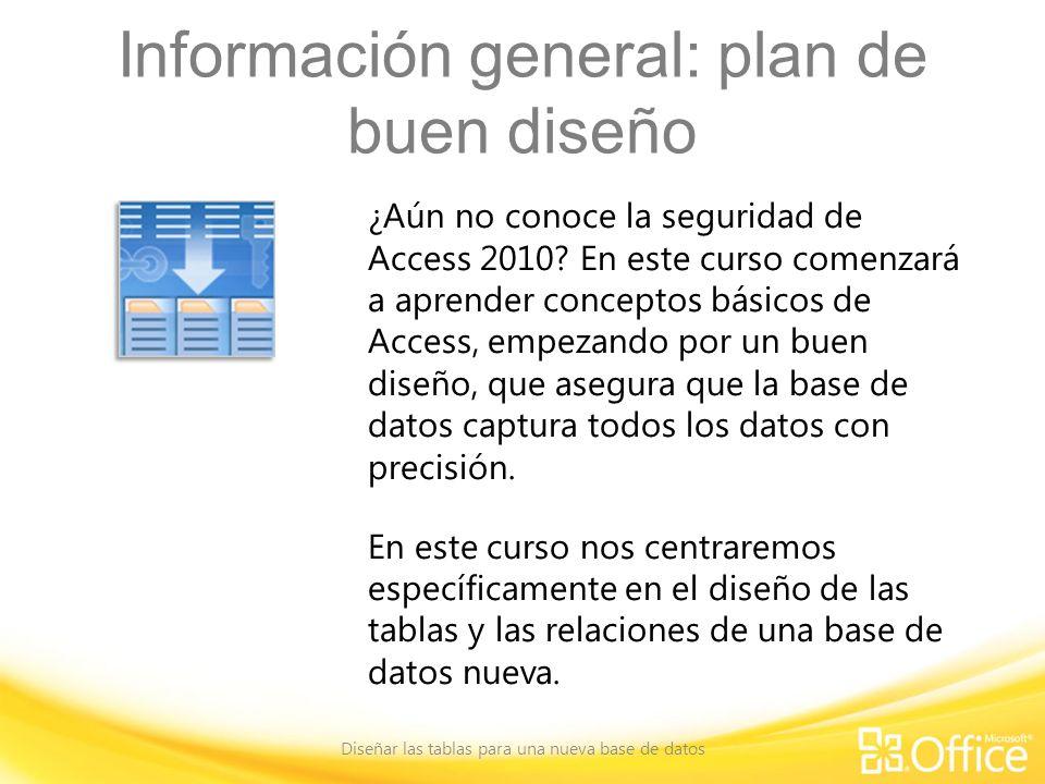 Información general: plan de buen diseño