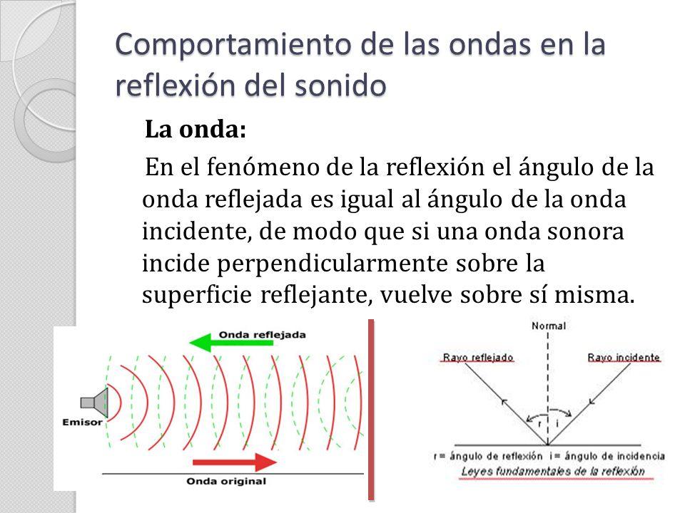 Comportamiento de las ondas en la reflexión del sonido