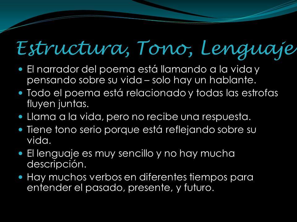 Estructura, Tono, Lenguaje