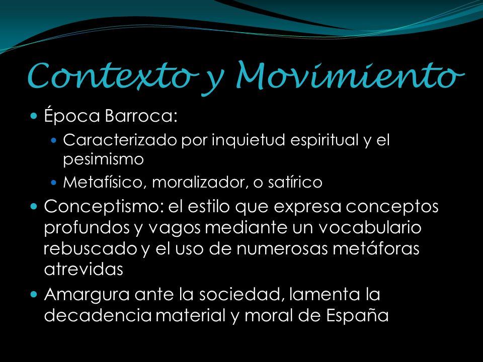 Contexto y Movimiento Época Barroca: