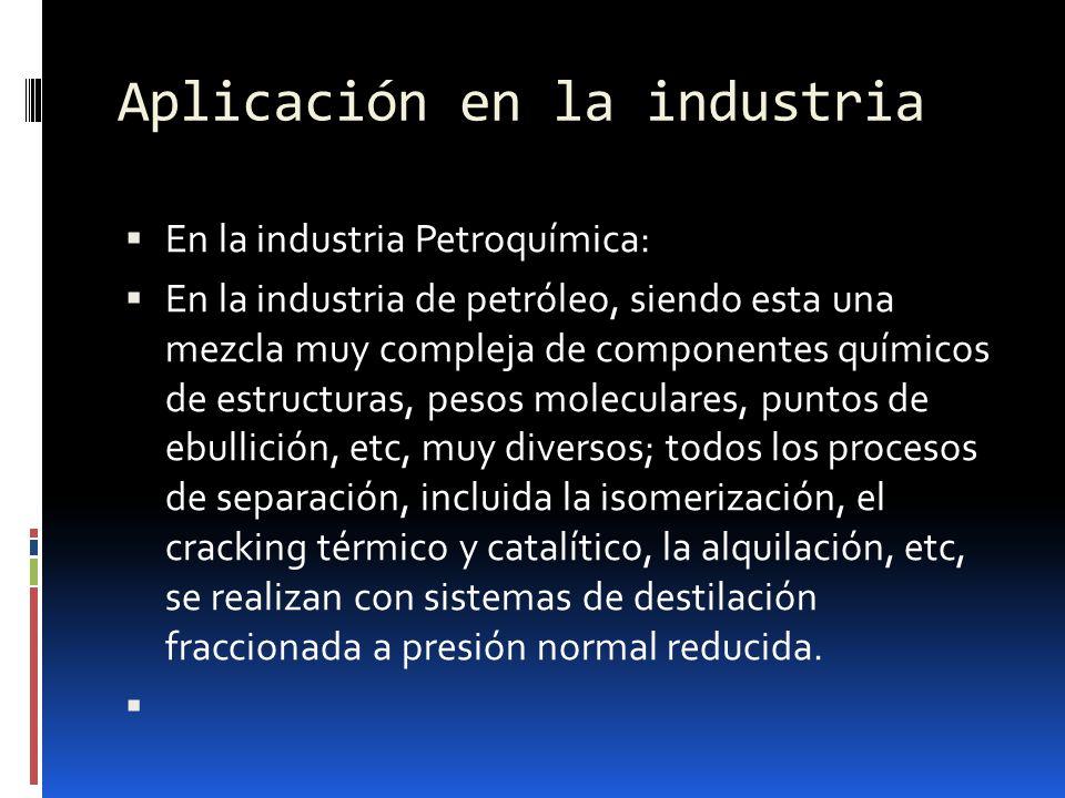 Aplicación en la industria