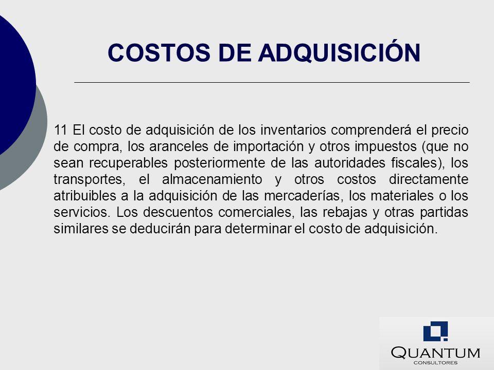 COSTOS DE ADQUISICIÓN