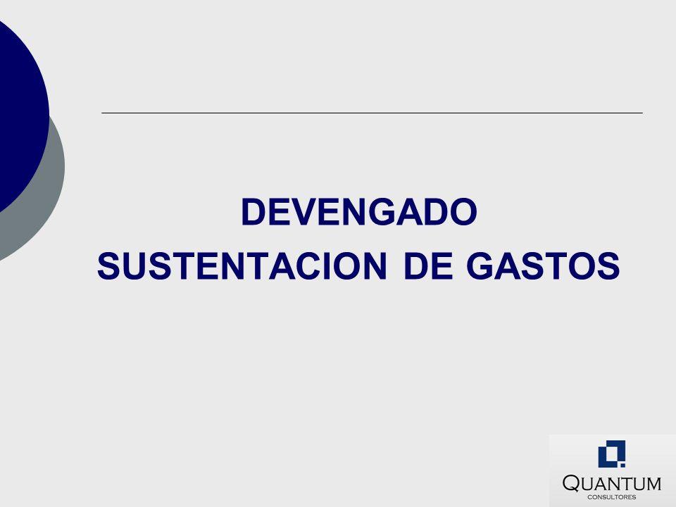 SUSTENTACION DE GASTOS
