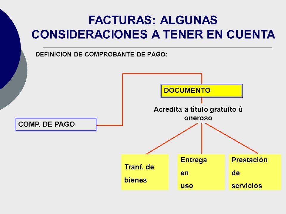 DEFINICION DE COMPROBANTE DE PAGO: