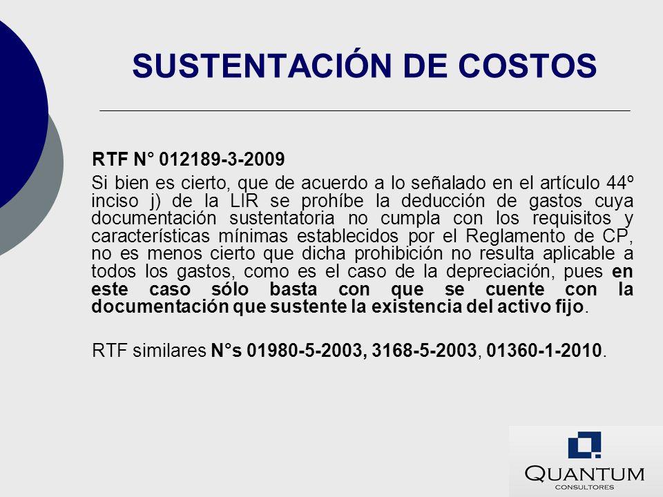 SUSTENTACIÓN DE COSTOS