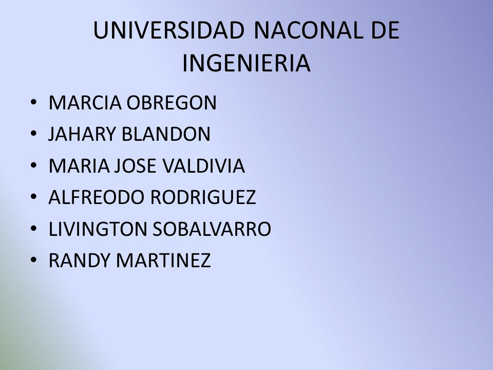 UNIVERSIDAD NACONAL DE INGENIERIA