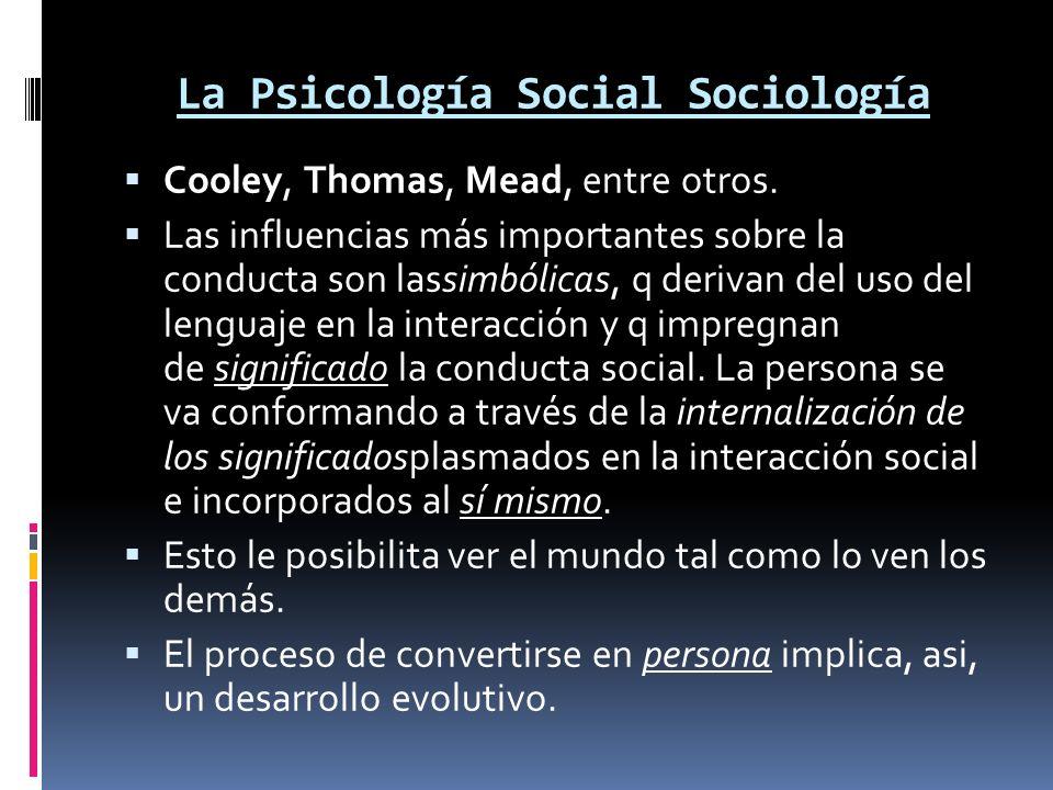 La Psicología Social Sociología