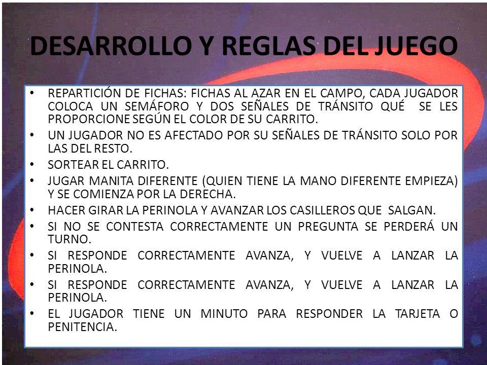 DESARROLLO Y REGLAS DEL JUEGO