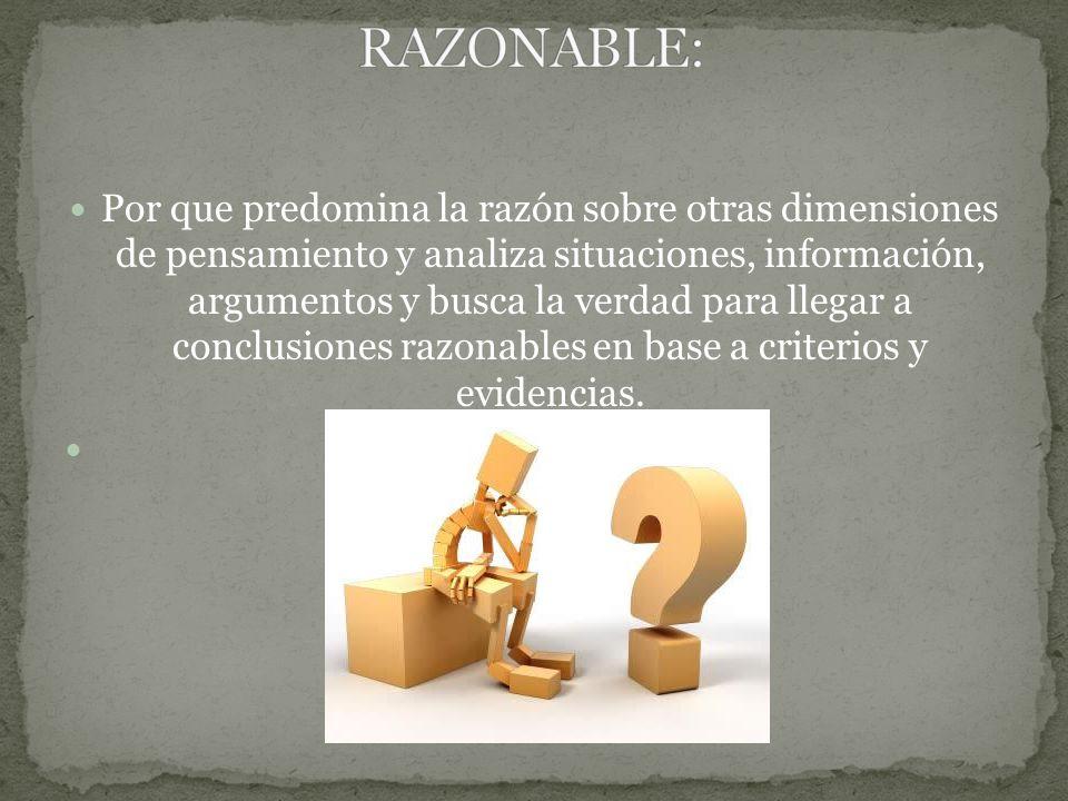RAZONABLE: